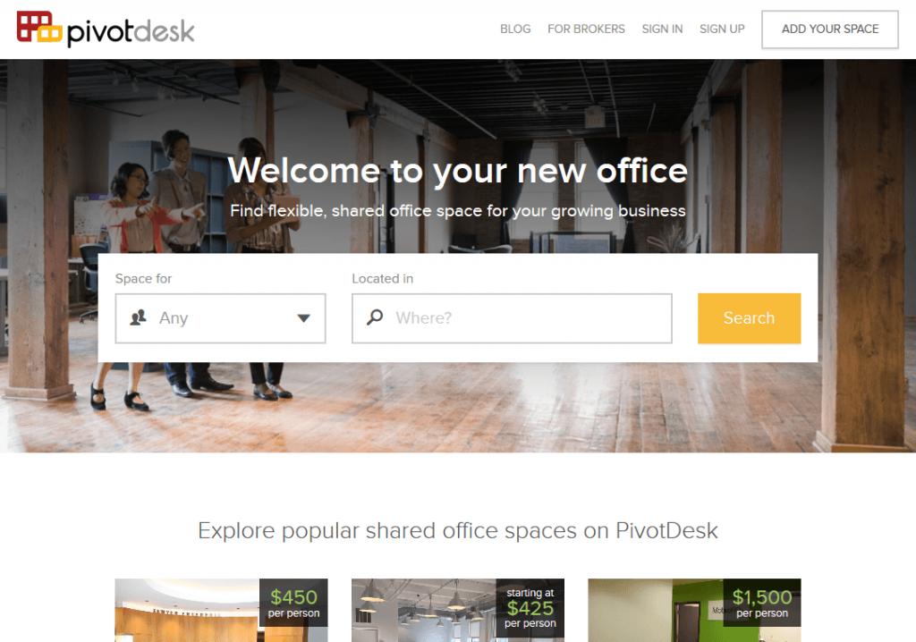 PivotDesk Shared Office Space