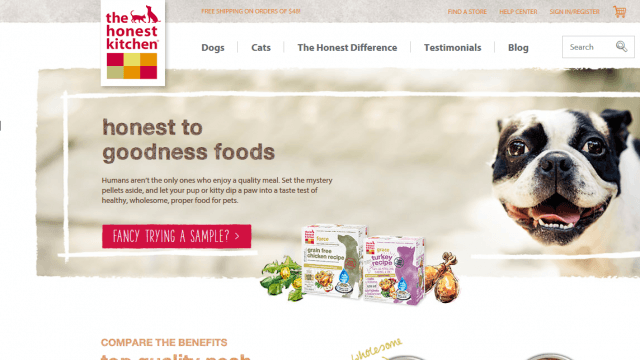 The Honest Kitchen Homepage