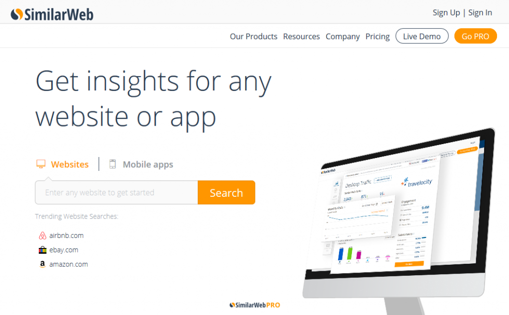 Website Traffic & Mobile App Analytics SimilarWeb