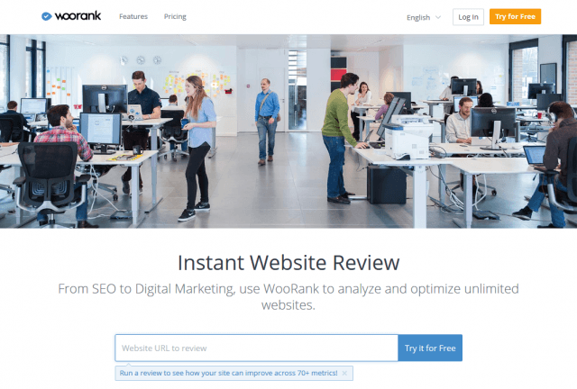wooRank.com Website Review - SEO Tool